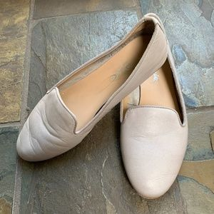 Capezio Taupe Leather Loafer Flats - Size 37